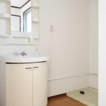 洗面台もれとろ。タイル貼りの洗面にかえようかな〜