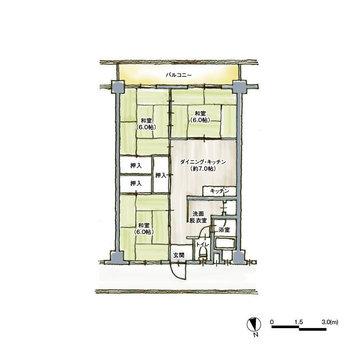 現状は和室が3つあります。