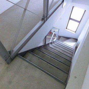 移動は階段で!