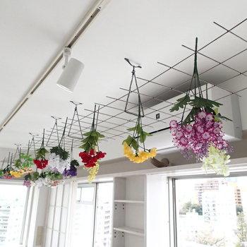 花束、藤棚?