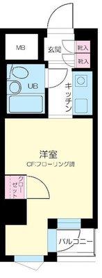 江戸川橋センチュリープラザ21 の間取り