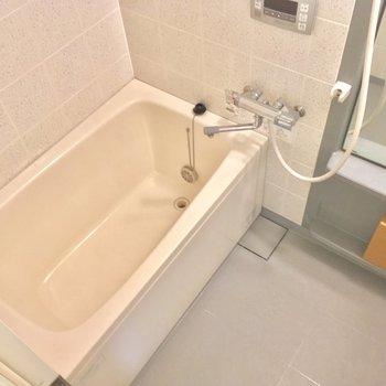 バスルームもこちらから。ゆったり〜