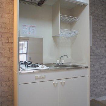 キッチンは新品だけど1口コンロ。※写真は前回掲載時のものです。