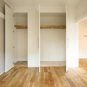 【別部屋】収納も大容量のクローゼットに!