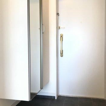大きめシューズボックスもある玄関です。