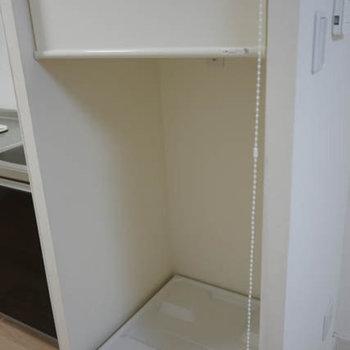 お隣には洗濯機置場も!隠せます!※写真は前回募集時のものです