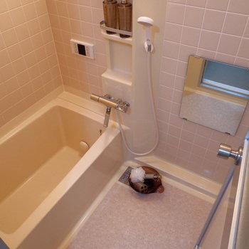 お風呂は2人にもいいサイズ。