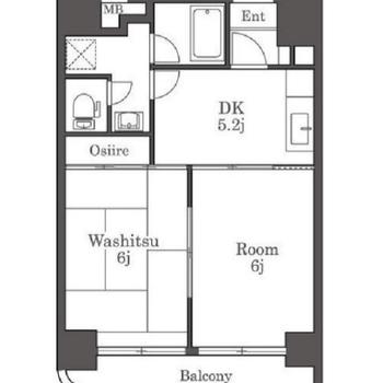 和室の付いたお部屋です。