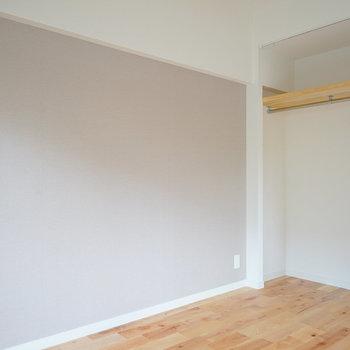寝室とリビングにオープン収納!※写真はイメージ
