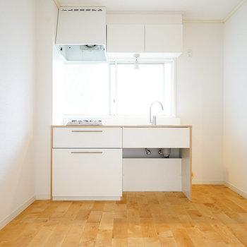 【完成イメージ】キッチンだってばっちりガス2口コンロ。