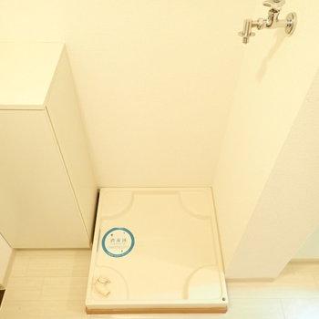 洗濯機は玄関すぐです。(※写真は2階の同間取り別部屋のものです)