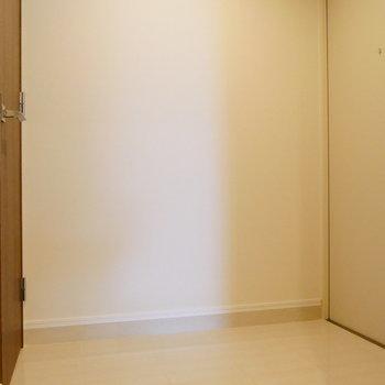 ここが、玄関。ゆとりあります。