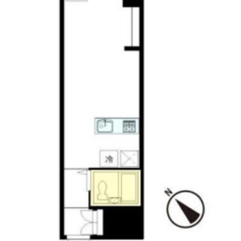 こちら間取り図。縦長のお部屋です。