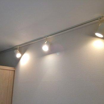 可動照明レールタイプです(※写真は5階の同間取り別部屋のものです)