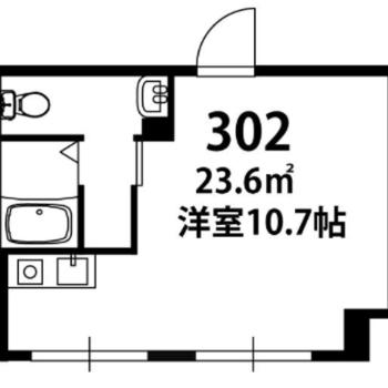 ゆとりのワンルームです。
