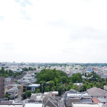 バルコニー眺望です!抜けててやや緑もあって風が心地良い〜♪
