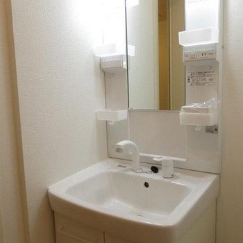 洗面台は親しみやすいタイプ ※写真は別部屋