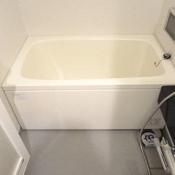 お風呂は普通かな。(※写真は間取り反転の別部屋です)