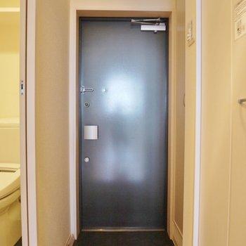 玄関はこんなの。※写真は同一フロアの別部屋
