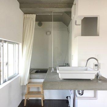 洗面台、お風呂すべて一緒!
