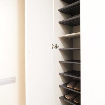靴箱に色々小さなものは収納しよう※写真は2階の同間取り別部屋のものです