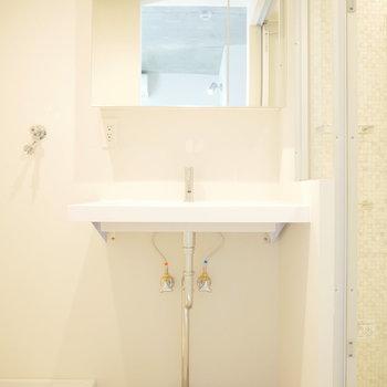 洗面所は浅めですが、独立。