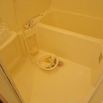 お風呂もシンプル♪。※写真は504号室のもの