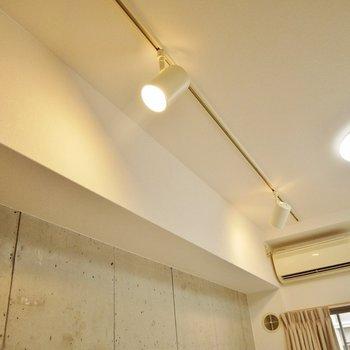 スポットライト×コンクリがいい雰囲気~。※写真は504号室のもの