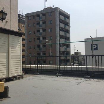 最後に屋上へ!気持ちいい風が。