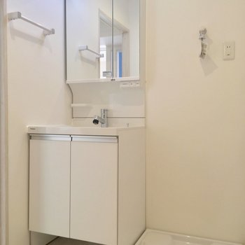 サニタリーはこちら。独立洗面台と・・・