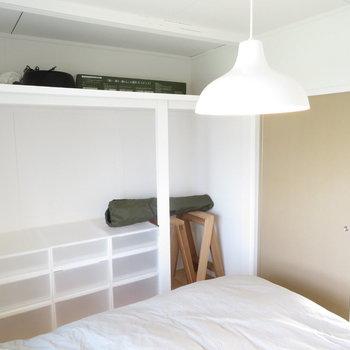 これが見せる収納です♬写真はモデルルームです。家具は付いてきませんのでご了承ください。
