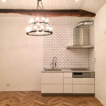 キッチンのこの眺め。