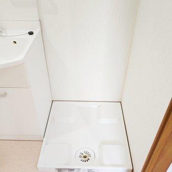 洗濯機との間は隙間なしです!