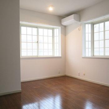 2階の間取り図、下のお部屋は少し広め※前回募集時の写真です