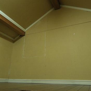 なんと、こちら、屋根裏スペース!※前回募集時の写真です