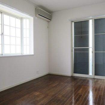2階の間取り図、左上のお部屋※前回募集時の写真です
