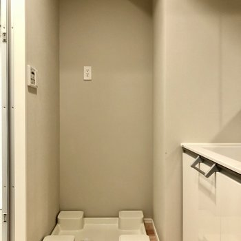 洗濯機置場は脱衣所にあります。
