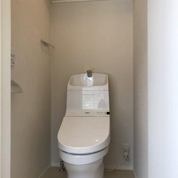 トイレ上にも物置けますね※写真は前回募集時のものです