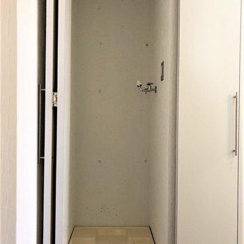 室内洗濯機置き場、ナイス!