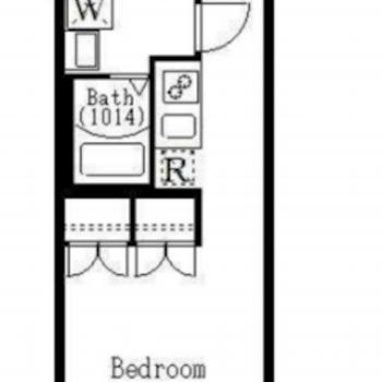 約25㎡、7.7帖のお部屋です。