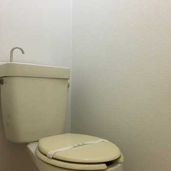 トイレもシンプルなタイプ