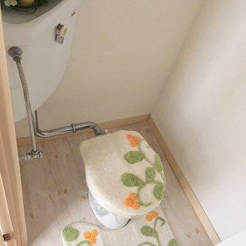 おトイレもステキにかざろう(※家具は見本です)
