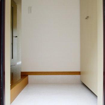 玄関はスペースあります。