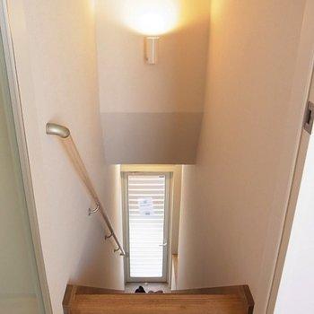 階段、手すり付き※写真は同じ間取り南東向きの別部屋です