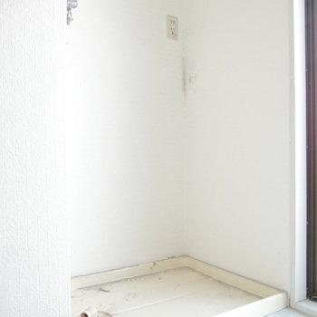 洗濯機はこちらに。 ※クリーニング前のものです
