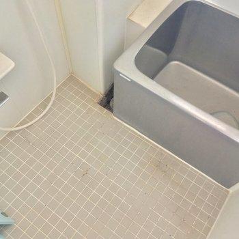 そしてコレが幻の銀浴槽!ピカピカに磨こう※クリーニング・電気が付く前の写真です