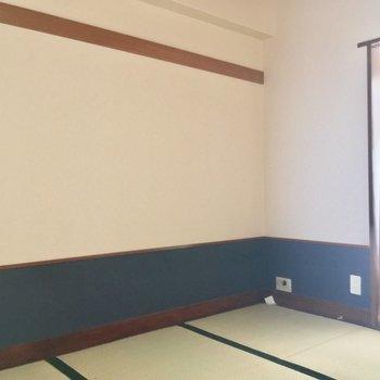 敷布団に座布団で、畳を楽しもう※クリーニング・電気が付く前の写真です