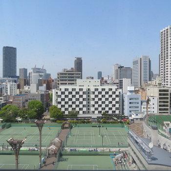 眺望ももちろん!靭公園のテニスコートがしっかり見えます!