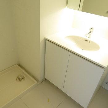 洗面脱衣所です!