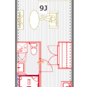 使いやすい正方形型のお部屋!